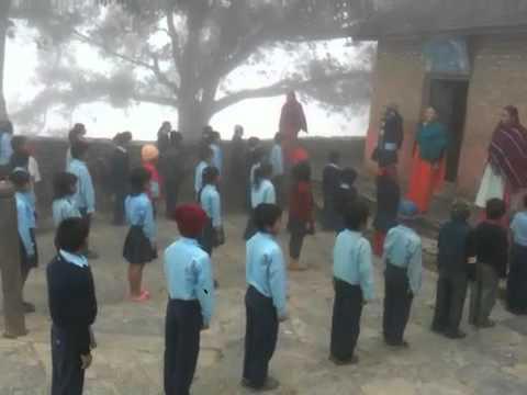 Numa escola em Bandipur