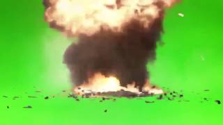 Missile And Explosion Green Screen And Chroma Key, With Sound Effect