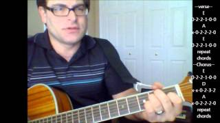 "How to play ""Drivin' my Life Away"" by Eddie Rabbitt on acoustic guitar"