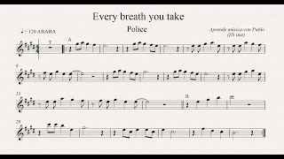 EVERY BREATH YOU TAKE: Eb Inst (saxo alto, saxo barítono...) (partitura con playback)