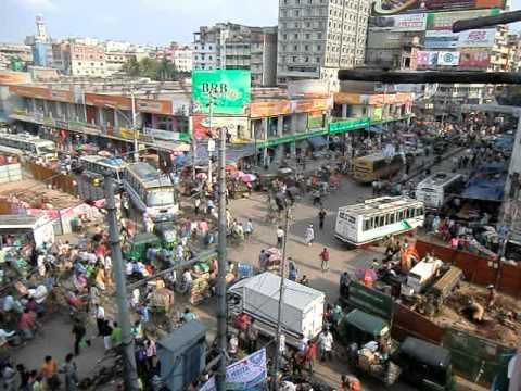 バングラデシュ ダッカの交差点