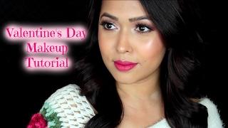 Soft & Romantic Valentine's Day Makeup Tutorial | 2017 width=
