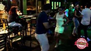 Israel and Karinna dancing Salsa at Mojito House