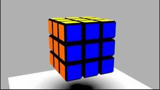 HOW to SOLVE rubik's cube in 20 moves SPEED 3D!!