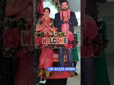 Bride Groom Entry Rotate Welcome Name Board +91 81225 40589 New Concept Wedding Elephant Decoration