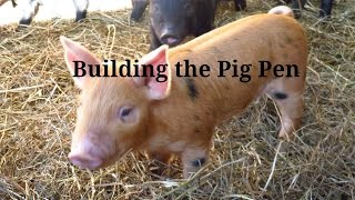 Building the Pig Pen and Installing a gate