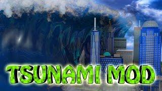 Minecraft   TSUNAMI DISASTER MOD Showcase! (Tsunami Destroys City, Zombies, Disasters, Tsunami)