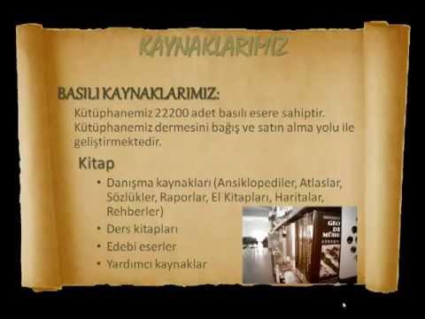 Bozok Üniversitesi Kütüphanesi Tanıtım