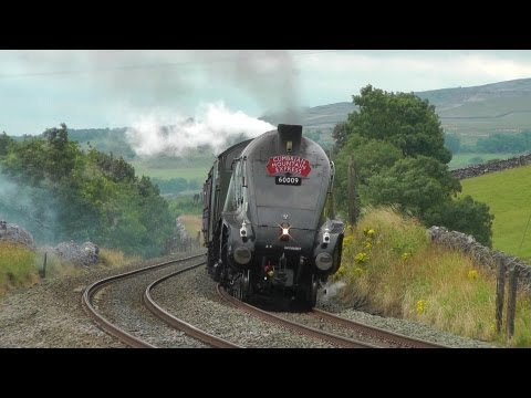 A4 60009 on The Cumbrian Mountain Express on Sat 18th Aug 2012.