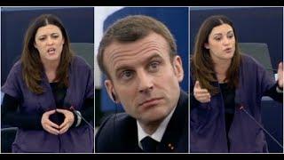 Macron qualifié de petit Napoléon par Marisa Matias, eurodéputée du bloc de gauche portugais