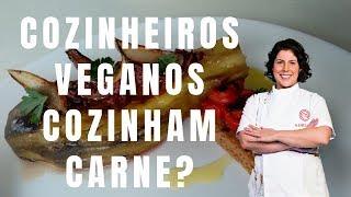 A prova: prato salgado sem sal | COZINHEIRO VEGANO COZINHA CARNE | Drica na Cozinha