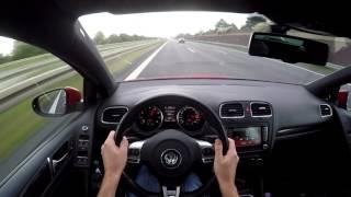 Golf 6 GTI 240kmh Autobahn