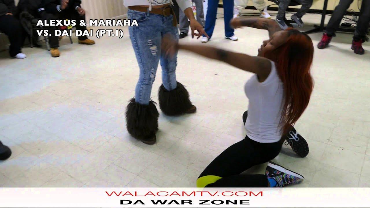 WALACAMTV.COM ITS ON - MARIAHA & LEXi vs. DAE DAE & CHYNA @ DA WARZONE (pt.1)
