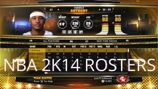 NBA 2K14 Player Rosters for NBA 2k13