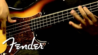 Squier Vintage Modified Precision Bass Fretless Demo | Fender
