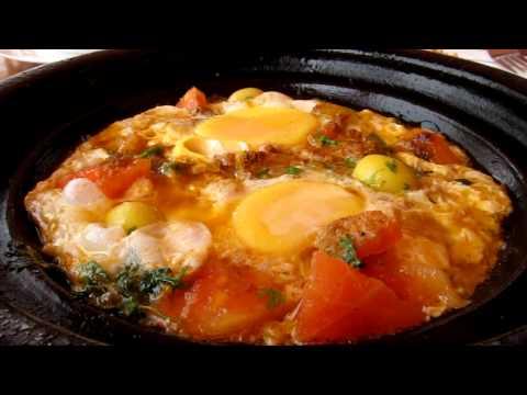 Berber Omelette in Moroccan Tagine
