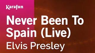 Karaoke Never Been To Spain (Live) - Elvis Presley *