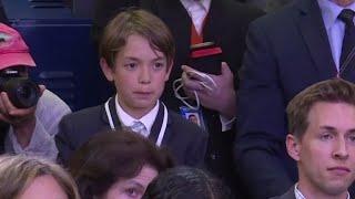 Sarah Sanders' emotional response to kid reporter asking about school shootings