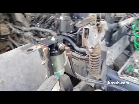 Установка фильтра грубой очистки на DAF XF105 12.9d MX300