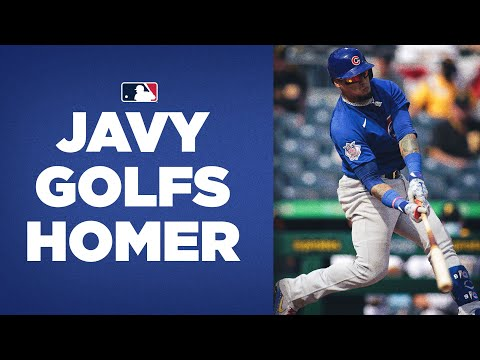 GO DOWN AND GET IT! Javy Báez golfs LOW pitch out for home run for Cubs!