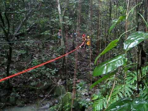 Kish's Zip Line Adventure in Puerto Rico's Natural Rain Forest with the Acampa Folks