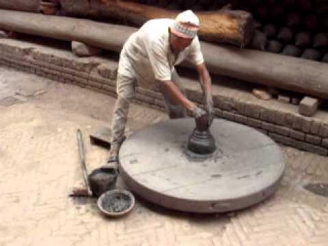 Local man making pottery in Bhaktapur, Kathmandu, Nepal