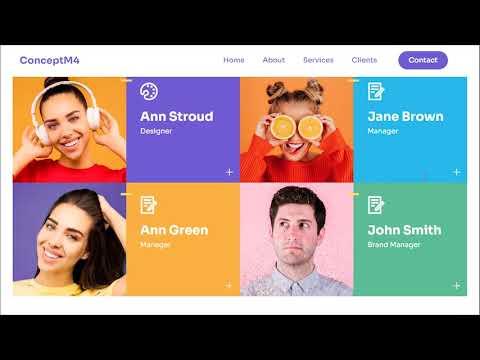 Bootstrap Design Template   ConceptM4