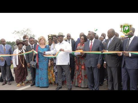 Inauguration de l'axe Adzopé   Yakassé Attobrou, par le Président OUATTARA, samedi 03 août