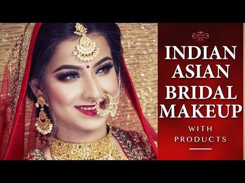 Indian Bridal Makeup Tutorial   Step By Step Bridal Makeup Tutorial   Asian Brides Makeover - YouTube