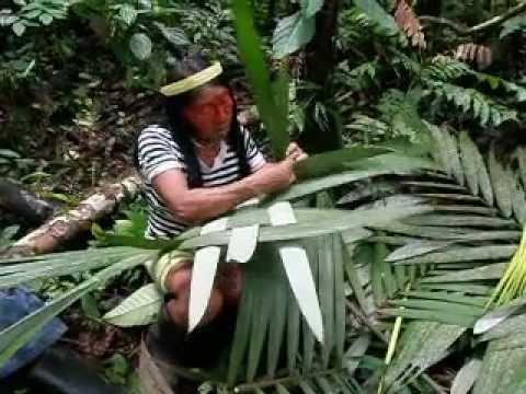 Hamadryade Lodge – Waorani tour, weaving baskets in the Jungle, Amazon, Ecuador