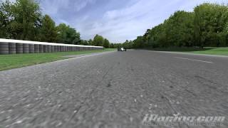 Last lap of the race, view back from the car in front