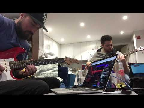 Jamming with Carlos on Aminor lofi/chill backing track
