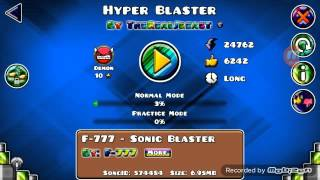 OMG FREE DEMON IN GEOMETRY DASH - Hyper Blaster FREE 10*