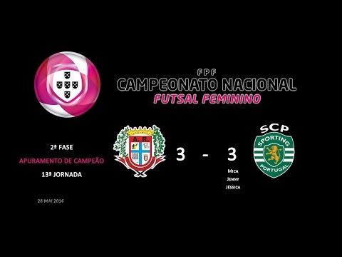 15/16 | Séniores Femininos | Camp. Nacional | F2 - 13ªJ | ARR Avintenses (3) x Sporting CP (3)