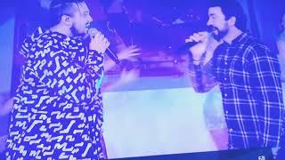 """Luan Santana e padre Fábio de Melo cantam a música """"amigos pela fé"""" no domingo legal"""