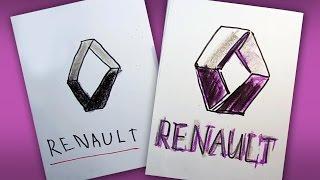 Как рисовать логотип РЕНО | How to draw a RENAULT logo