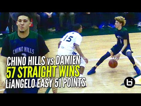 LaMelo Ball Gets SHIFTY & LiAngelo 52 POINTS!! Chino Hills vs Damien Pt 2 FULL Highlights!!