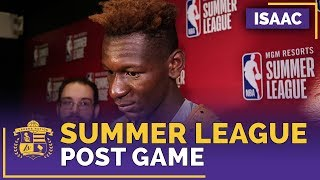 Lakers Rookie Isaac Bonga After Summer League 2018 Debut