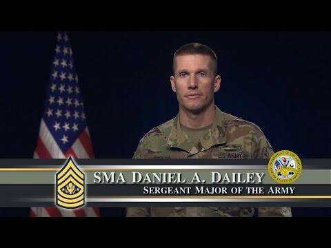 Sgt. Maj. of the Army Daniel Dailey - Online Conduct Message