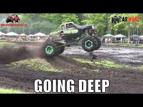 GOING DEEP Chevy Mega Truck Gets Big Stuck At Perkins Spring Mud Bog