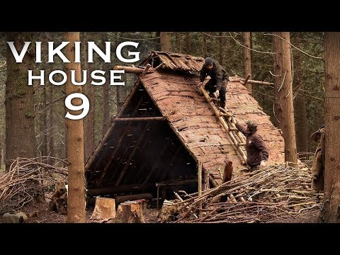 Building a Viking House with Hand Tools: | Bushcraft Project (PART 9)