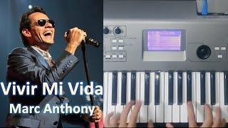 """Como tocar """"VIVIR MI VIDA"""" en PIANO de Marc Anthony / Salsa Cover Tutorial Acordes / MoroMusicPiano"""