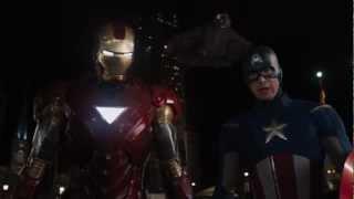 La entrada de Iron Man en Los Vengadores (Shoot to Thrill -  ACϟDC) [HD].avi