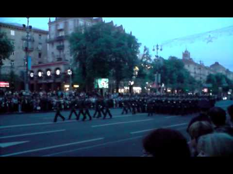 Victory Day Parade Rehearsal Kiev, Ukraine