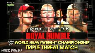 "WWE Royal Rumble 2015 Matches Card & Theme song "" Gonna be a fight tonight "" With Download Link"