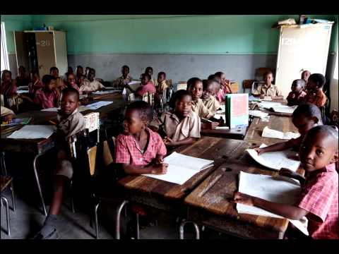 A Visit to a School and a Village, Victoria Falls, Zimbabwe, Africa