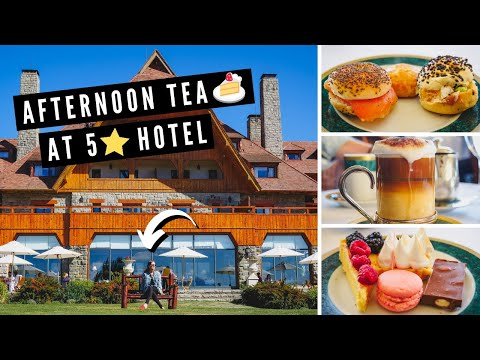 We had AFTERNOON TEA at the 5-star LUXURY Llao Llao Hotel in Bariloche, Argentina! 🍰