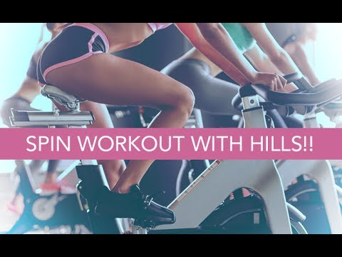 15 Minute Indoor Cycling Class (SPIN WORKOUT WITH HILLS!!)