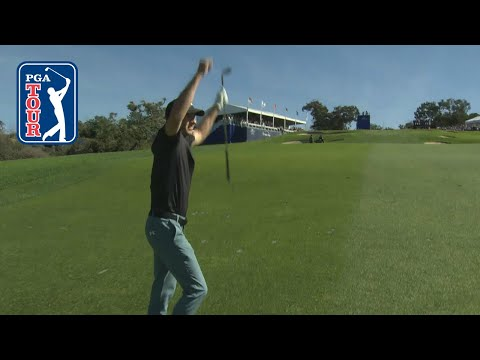 Jordan Spieth holes out for eagle at Farmers 2019