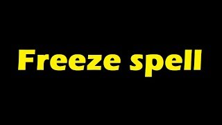 Freeze spell - sound effect